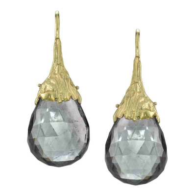 Stardrop Fine Tourmaline & Gold  Earrings - #3039B