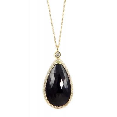 Skyline Blue Sapphire & Diamond Gold Necklace - #SKYLINE BL SAPP