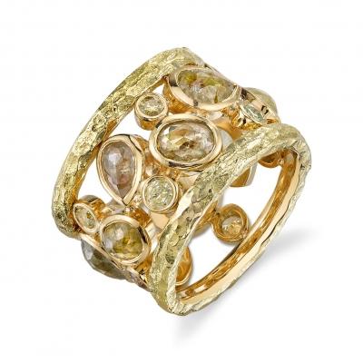 Terra Rustic Diamond Gold Ring - #Terra Journey Ring