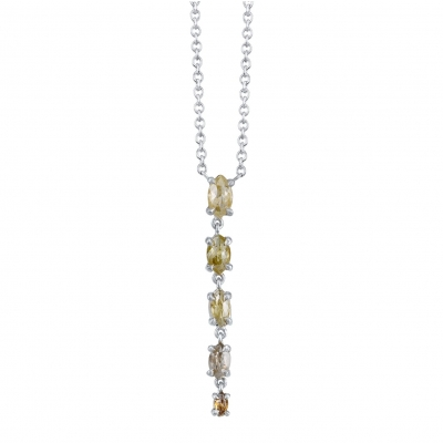 Terra Rustic Diamond White Gold Necklace - #T2P12115-2