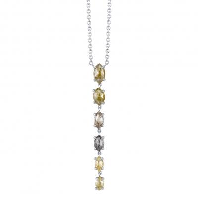 Terra Rustic Diamond White Gold Necklace - #T2P12115-3