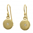 Sunshine Gold Disc and Diamond Earrings - #SSE MED