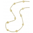 New Moon Medium Gold Circle Necklace - #nmn121009-3m