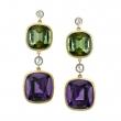 Stardrop Fine Tourmaline & Gold  Earrings - #3039B