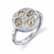 Terra Fancy Color Rustic Diamond Petal Ring - #Terra Petal Ring